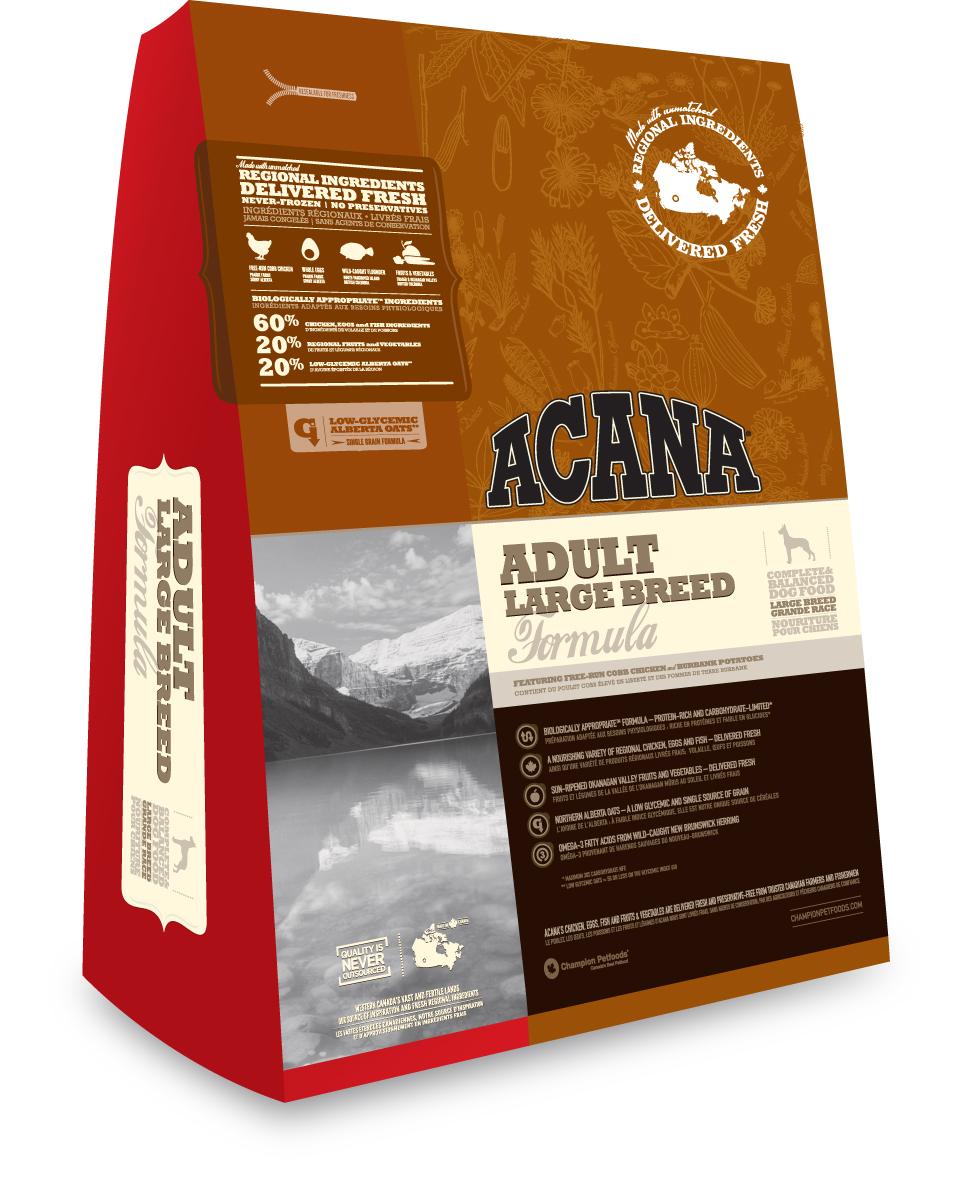 Коробка корма Acana Adult Large Вreed