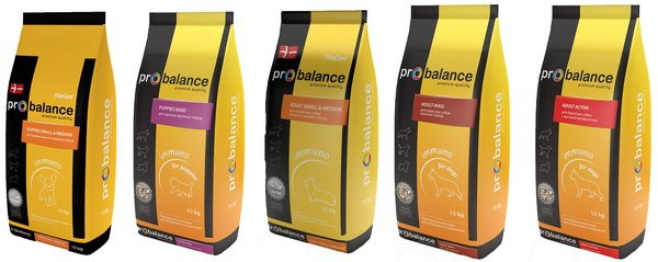 Желтая серия сухого корма Probalance