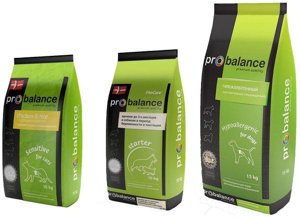 Зеленая серия сухого корма Probalance