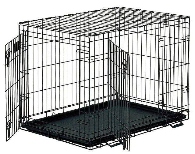 Клетка для собак с двумя дверьми