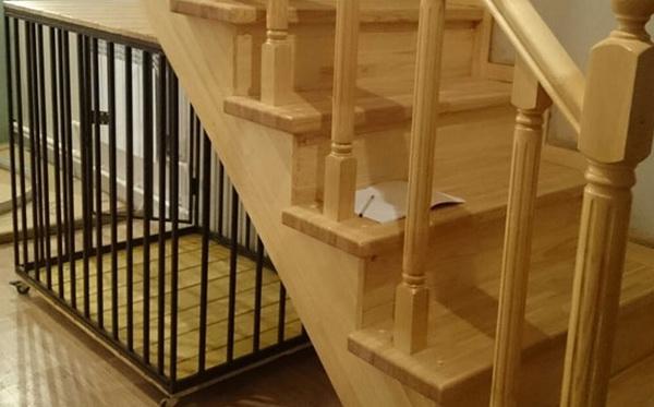 Клетка под лестницей