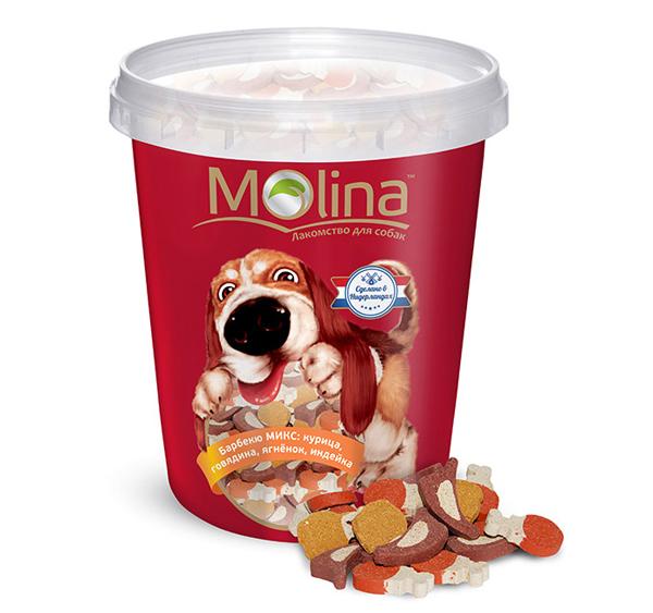 Лакомства в баночке Molina