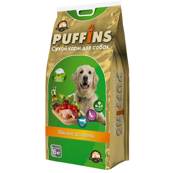Корм для собак Puffins