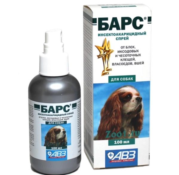 Спрей Барс для лечения собак от насекомых