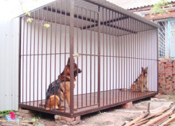 Металлический вольер для собаки