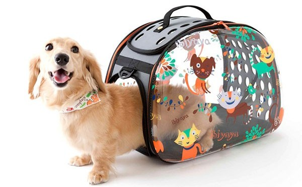 Складная сумка-переноска с собакой